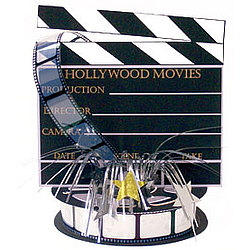 Hollywood Clapboard and Reel Centerpiece