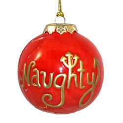 Naughty or Nice Christmas Ornament