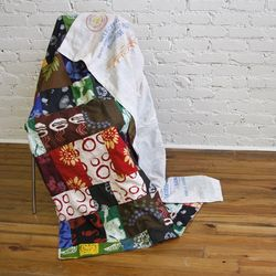 Cotton Batik Fabric Recycled Scraps Patchwork Throw