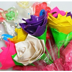 Mother's Day Candy and 8 Duct Tape Roses Bouquet