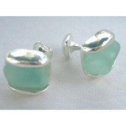 Sterling SeaGlass Cufflinks