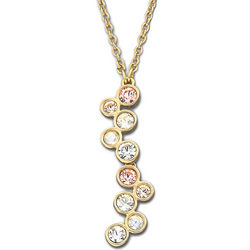 Swarovski Crystal Fidelity Silk Necklace Gold