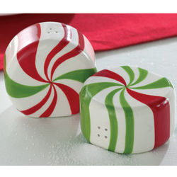 Peppermint Salt and Pepper Shakers