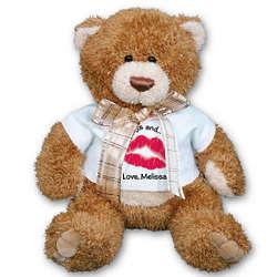 Personalized Big Kiss Teddy Bear