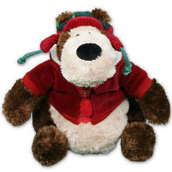 Personalized Holiday Goober Jr Teddy Bear with Jacket