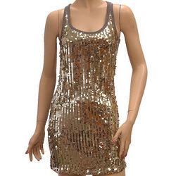 Dolce and Gabbana Gold Mini Dress