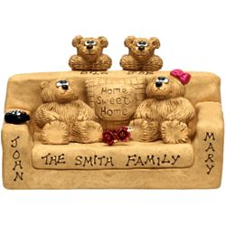 Personalized Bear Bunch Couch with 3 to 9 Bears