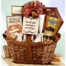 Thoughts and Prayers with You Gourmet Gift Basket