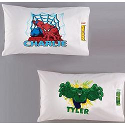 Personalized Spiderman or Hulk Pillowcase