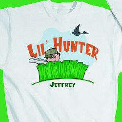 Personalized Lil' Hunter Youth Sweatshirt