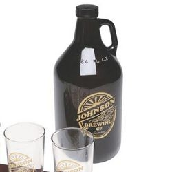 Dark Glass Personalized Beer Growler