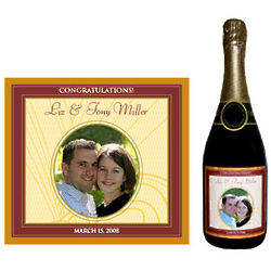 Personalized Anniversary Champagne Label