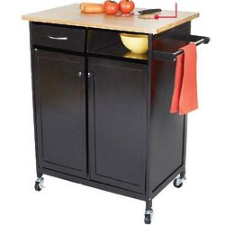 Kitchen Butcher Block Cart