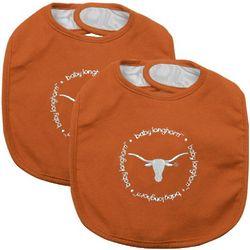 Texas Longhorns 2-Pack Baby Bibs