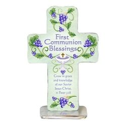Grow in Grace and Knowledge First Communion Blessings Cross