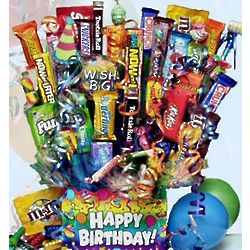 Birthday Wishes Candy Bouquet