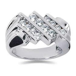 1.04 ctw Men's Diamond Ring in Palladium
