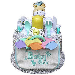 1 Tier Neutral Diaper Cake