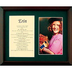 Personalized 8 x 10 First Name Print Photo Frame