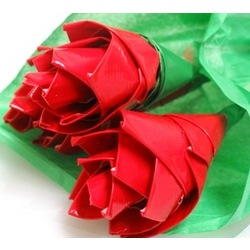 Congratulations on Your Graduation Duct Tape Rose Bouquet