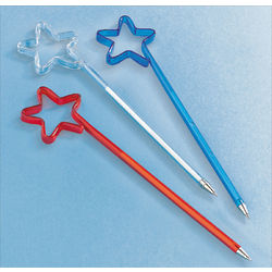 Patriotic Star-Shaped Pens