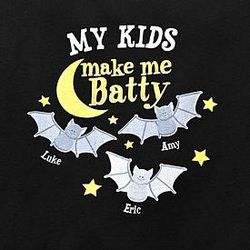 Personalized Make Me Batty T-Shirt