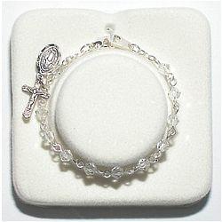 Crystal Baby Rosary Bracelet