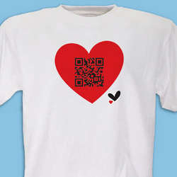 Personalized QR Code Heart T-Shirt