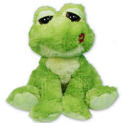 Personalized Heart Hops a Beat Plush Frog