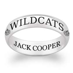 Sterling Silver Personalized Mascot Class Ring