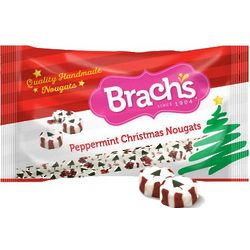 Peppermint Christmas Nougat Candies