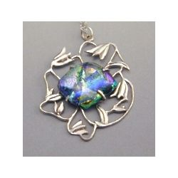 Dichroic Daylily Pendant