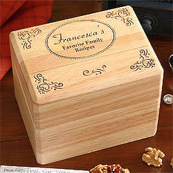 Family Favorites Personalized Recipe Box