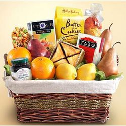 Tea and Fresh Fruit Gift Basket