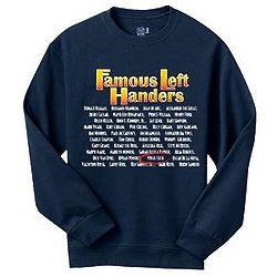 Personalized Famous Left Handers Sweatshirt