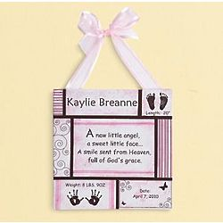 Personalized Baby Information Canvas Wall Art