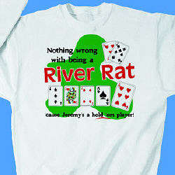 Personalized River Rat Poker Sweatshirt