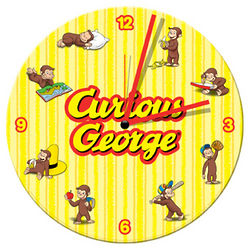 Curious George Wood Wall Clock
