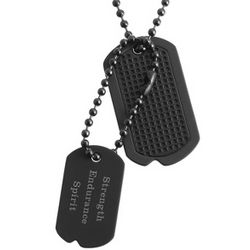 Personalized Horizontal Stealth Double Dog Tags