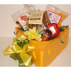 Little Cheesehead Snack Gift Basket