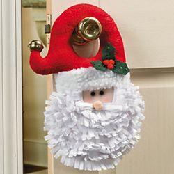 Santa Head Doorknob Hanger