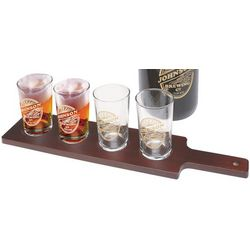 Beer Tasting Paddle with 4 Personalized Glasses