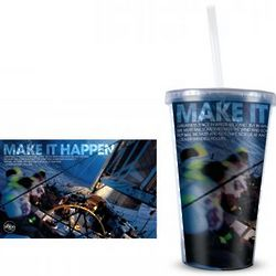 Make it Happen Acrylic Tumbler with Straw
