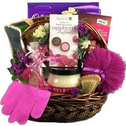 Mulberry Lane Spa and Chocolate Basket