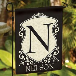 Personalized Initial Crest Garden Flag