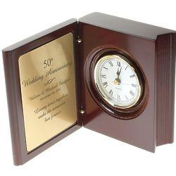 50th Anniversary Personalized Book Clock