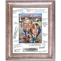 Personalized Caricature 25th Anniversary Art Print