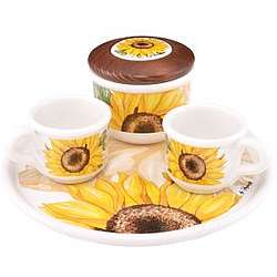Sugar and Mocha Cups Sunflower Set