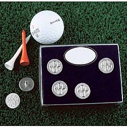 Personalized Pewter Ball Marker Set