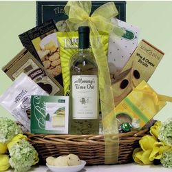 Mommy's Time Out Pinot Grigio Mother's Day Wine Gift Basket